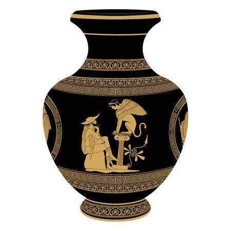 olympus: Vector Greek vase.
