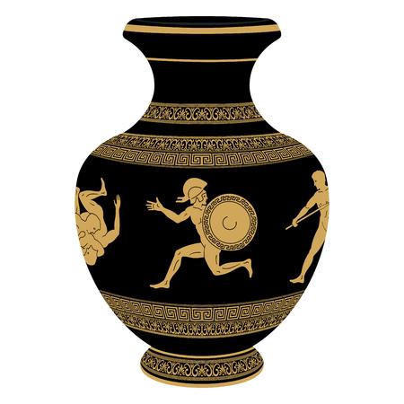Vector Greek vase.