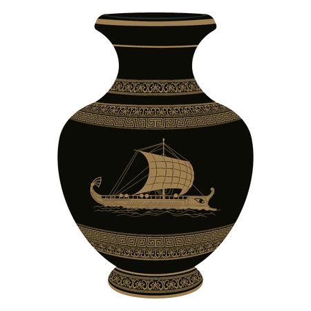 ベクトル ギリシャ花瓶。