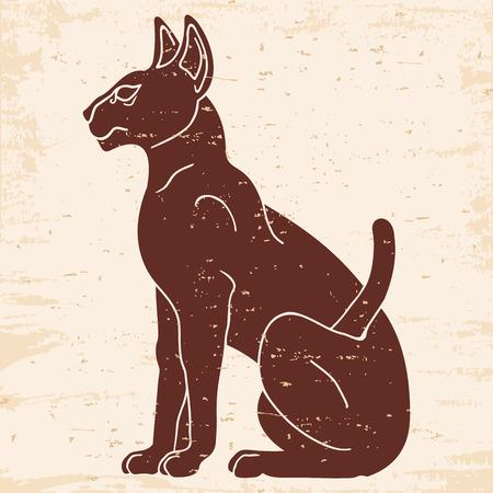 이집트 스핑크스 고양이입니다. 일러스트