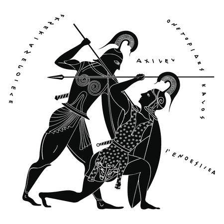 Vector de dibujo griego.