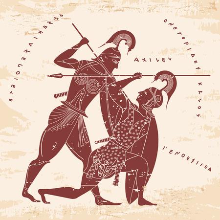 Vector de dibujo griego. Foto de archivo - 82286136