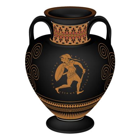Vector vaso griego. Foto de archivo - 82554067