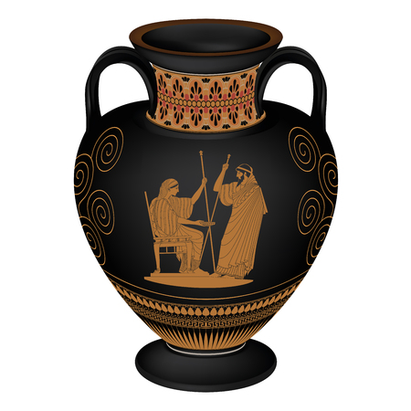 Ancient Greek Goddess Aphrodite With A Pitcher And God Of Marriage