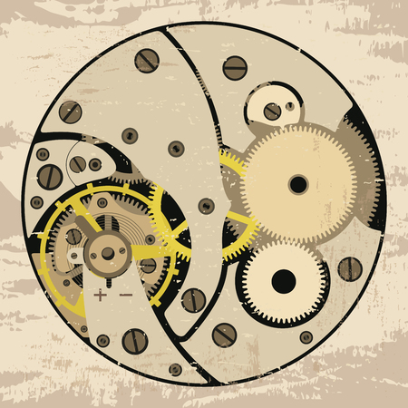 bracket: Clock mechanism assembly.