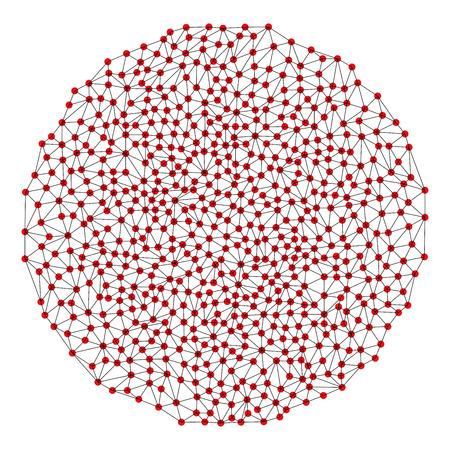 Business block chain illustration.