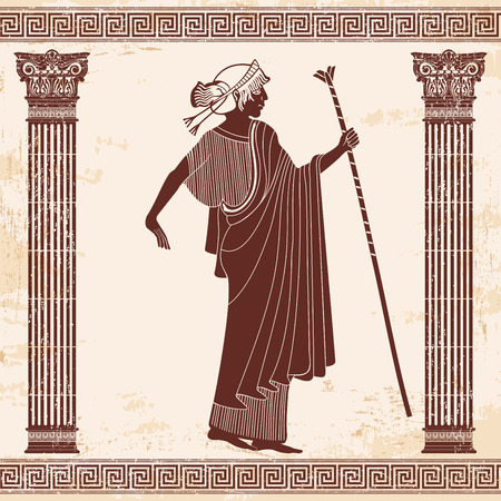Vector Greek drawing.