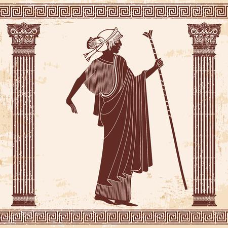 Vector griechischen Zeichnung. Standard-Bild - 85363697