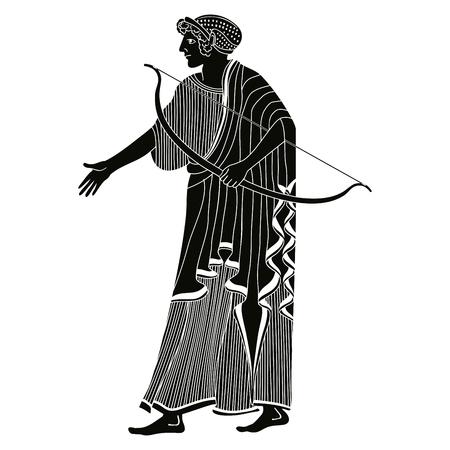 Vector de dibujo griego. Foto de archivo - 85455741