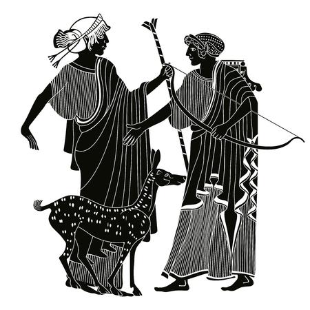 Vector Dibujo griego. ilustración del vector.