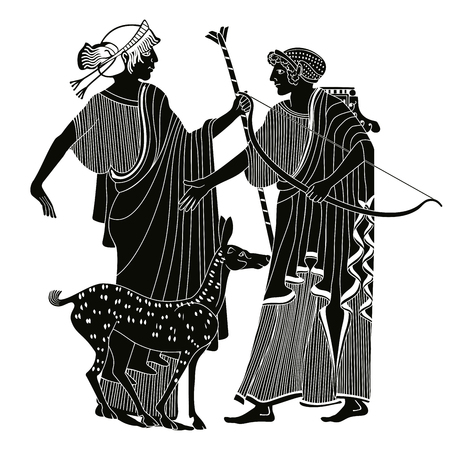 Vector Griekse tekening. vector illustratie.