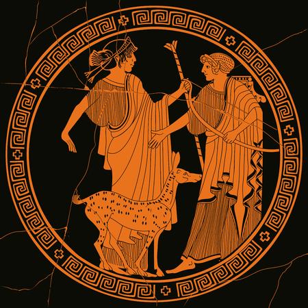 Vector Griekse tekening. Stock Illustratie