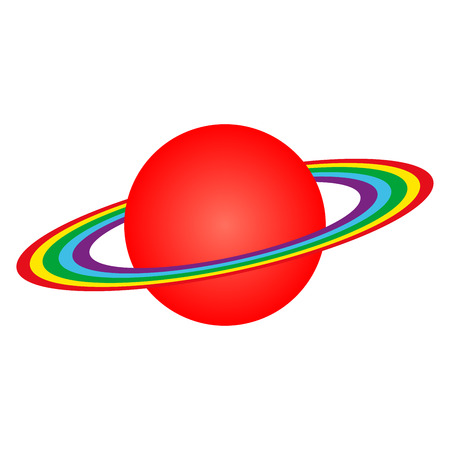 Vector planet Saturn with rings Illustration