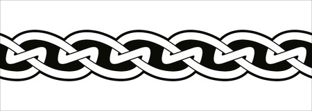Keltische nationale naadloze versiering. Stock Illustratie
