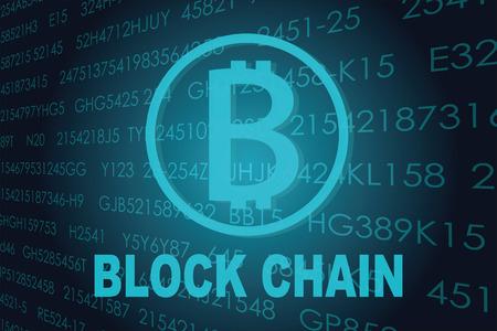 contextual: Business block chain illustration.
