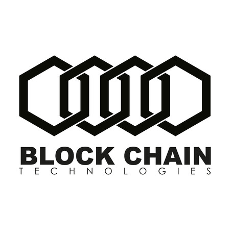 contextual: Business block chain logo illustration.