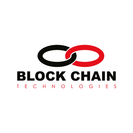 Business block chain logo illustration.