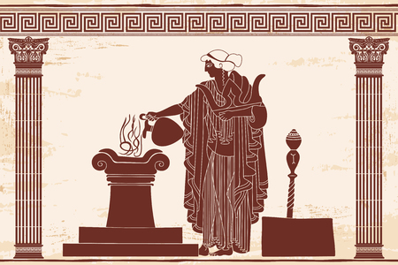Ancient Greek goddess Aphrodite vector illustration. Illustration