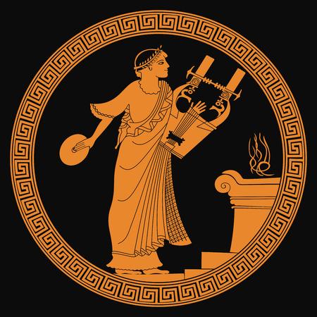 Dios griego antiguo. Foto de archivo - 89439083