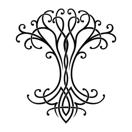 Vector Disegno nazionale celtico di un albero della vita.