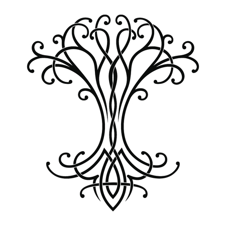 Vector Celtic national drawing of a tree of life.