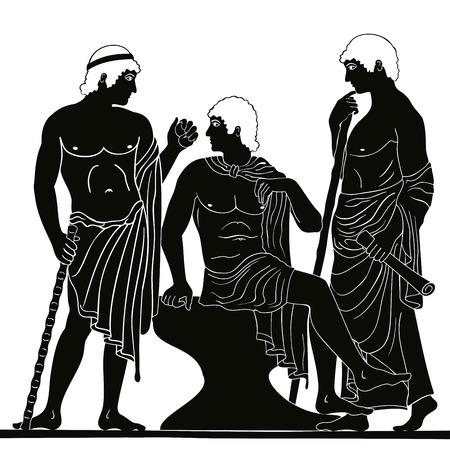 Alter griechischer Mann . Vektor-Illustration