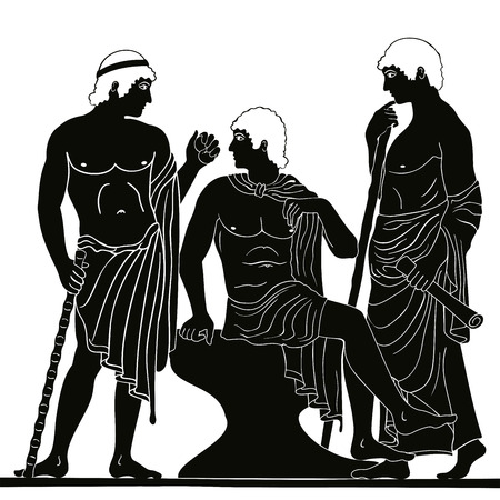 Ancient Greek man. Vector illustration.