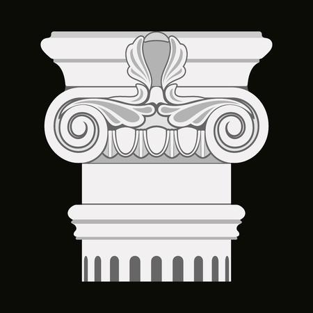 Image vectorielle des anciennes amphores grecques de colonnes sur un fond noir Banque d'images - 94074660