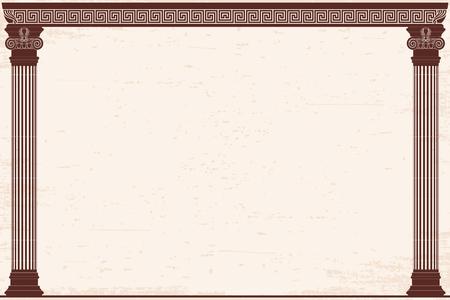Ancient Greek background. Çizim