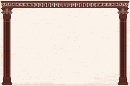 Ancient Greek background. Vettoriali