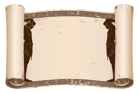 Ancient Greek papyrus.