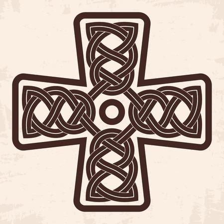 Celtic national cross. Illustration