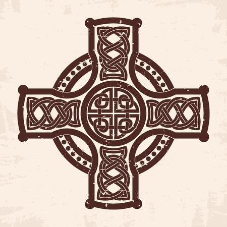 Celtic national cross Vector illustration.