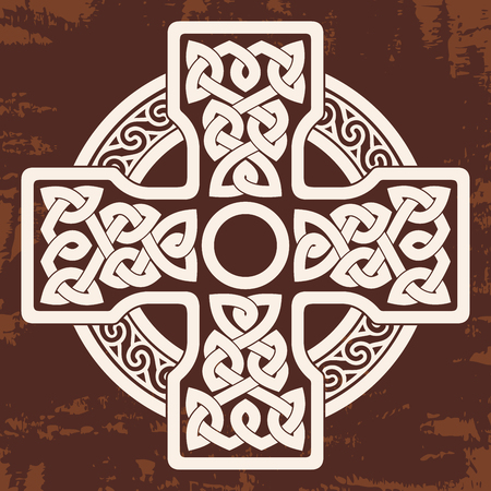 Celtic national cross. Illustration
