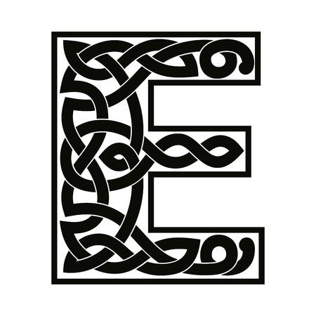 Letter with Celtic ornament. 版權商用圖片 - 95902745