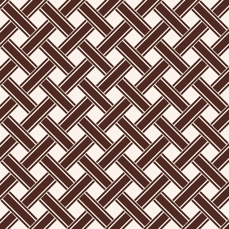 Celtic national ornament in solid brown color seamless pattern background.