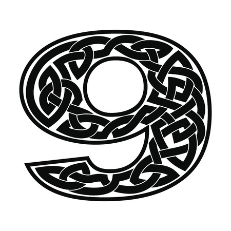 Numeral with Celtic ornament.