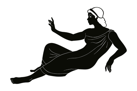 Ancient Greek drawing. Illustration