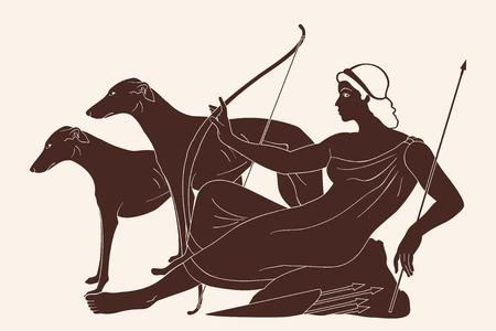 Greek goddess Artemis. Reklamní fotografie