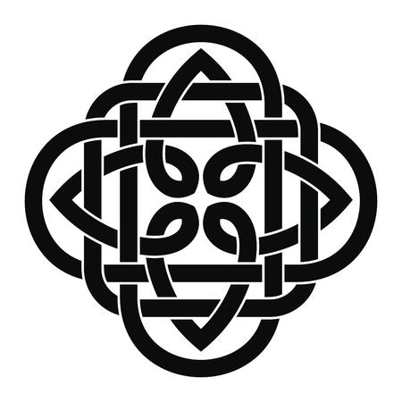 Celtic national ornament in black and white Illustration. Vector Illustration