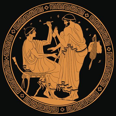 Ancient Greek drawing. Archivio Fotografico