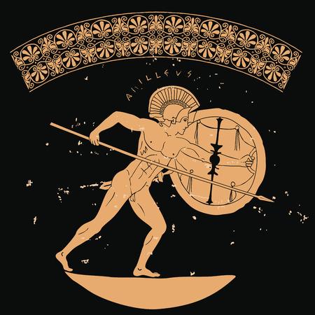 Antico guerriero greco. Archivio Fotografico