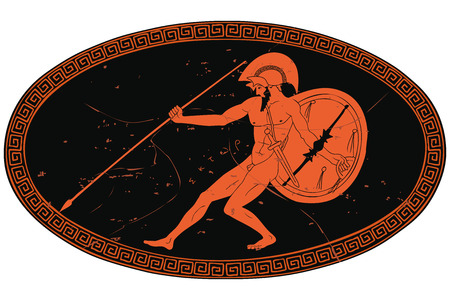 Ancient Greek warrior.