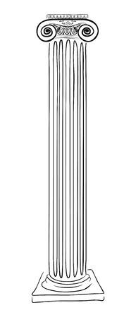 Ancient Greek column.