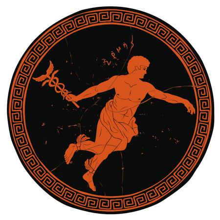 Antiguo dios griego Hermes.