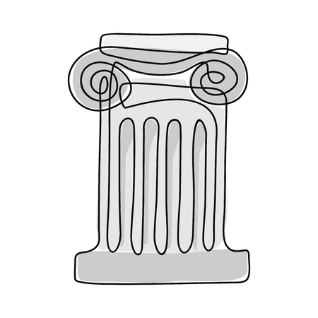 Ancient Greek column. Stock Vector - 110833231
