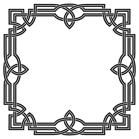 Frame with Celtic ornament.