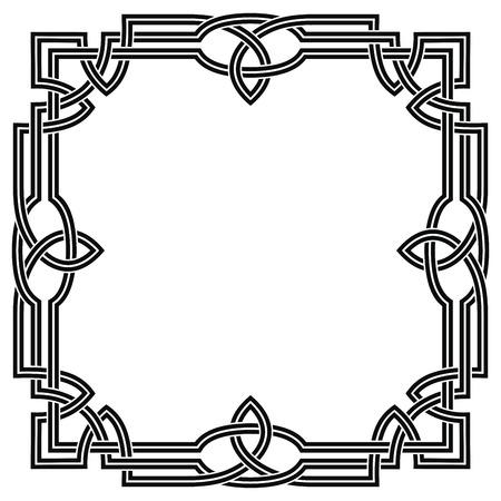 Rahmen mit keltischem Ornament. Vektorgrafik
