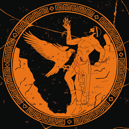Altgriechischer Gott Prometheus.