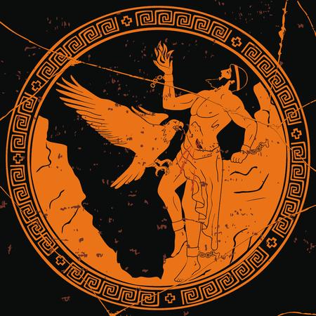 Oude Griekse god Prometheus.